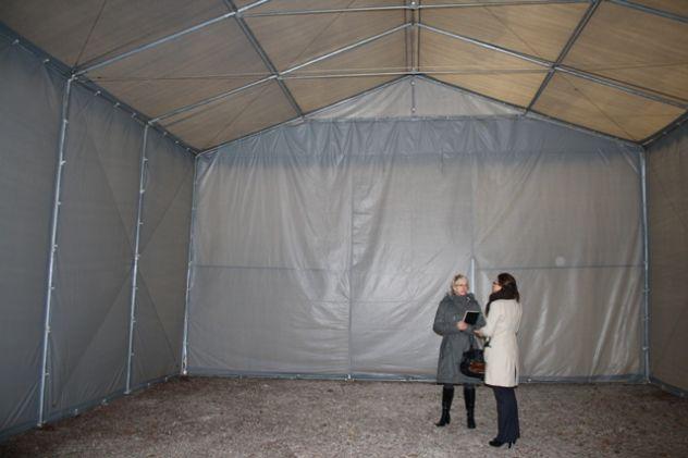 TENDONE TUNNEL PER DEPOSITO RIMESSAGGIO MAGAZZINO 8 X 24 Metri - Foto 4