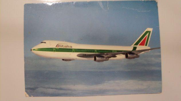 Coppia cartoline aerei Alitalia inizi anni 80