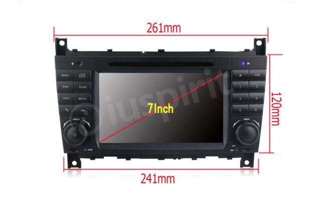 Autoradio 2DIN navigatore Mercedes W203 W209 W203 W407 W467 C200 C220 - Foto 10