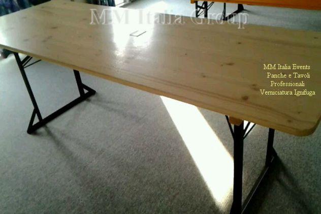 50 set panche e tavoli pieghevoli professionali per sagre noleggio - Foto 6