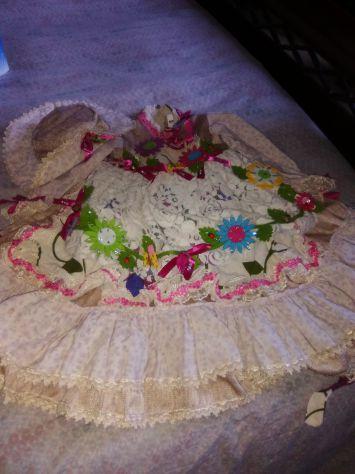 Vestito carnevale piccola fioraia carnevale veneziano misura 4
