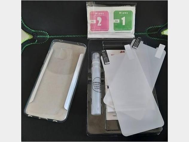 Per Huawei Mate20 Pro cover in silicone+2pellicole Nuovo