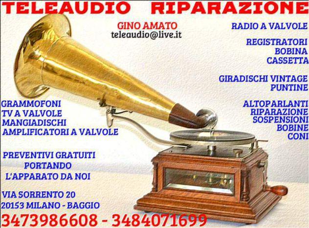 Riparazione Radio d'epoca, Grammofoni, Antiquariat