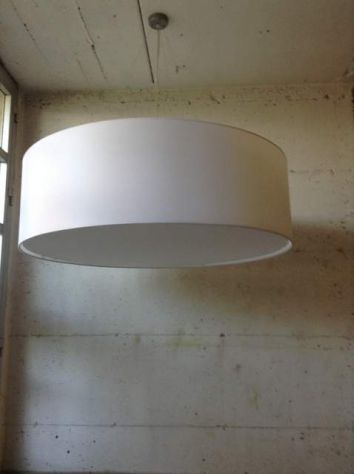 LAMPADARIO IN TESSUTO CILINDRO  IN TUTTE LE MISURE GRANDI - MAXI - Foto 3