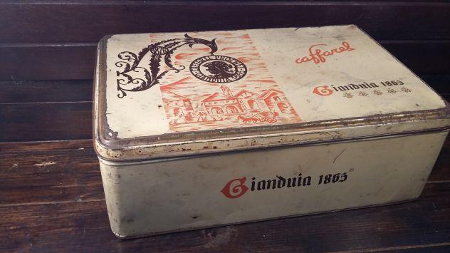 V351 riuso scatola latta Caffarel Gianduia