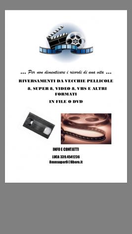 8mm super8 vhs musicassette e dischi ecc trasformo tutto in dvd o cd