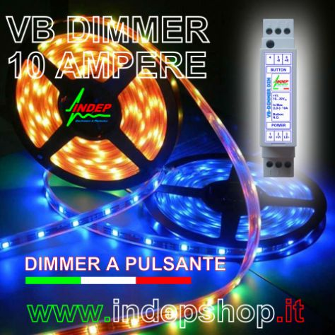 Dimmer 12V / 24V a pulsante per strisce led - made in Italy