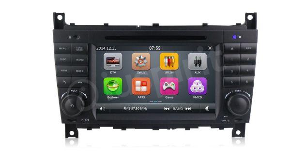Autoradio 2DIN navigatore Mercedes W203 W209 W203 W407 W467 C200 C220 - Foto 5