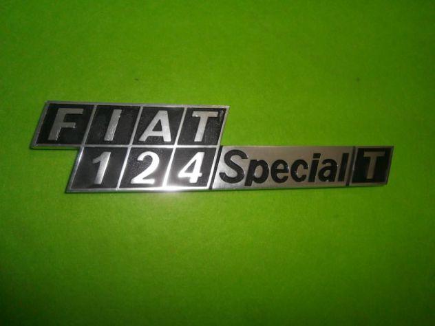 Fiat 124 special T logo scritta targhetta posteriore in metallo NUOVA
