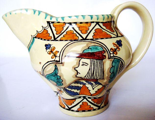 Orvieto-Caraffa-Ceramica smaltata dipinta a mano 1960 ca.-Lab. Ceramica SCO-