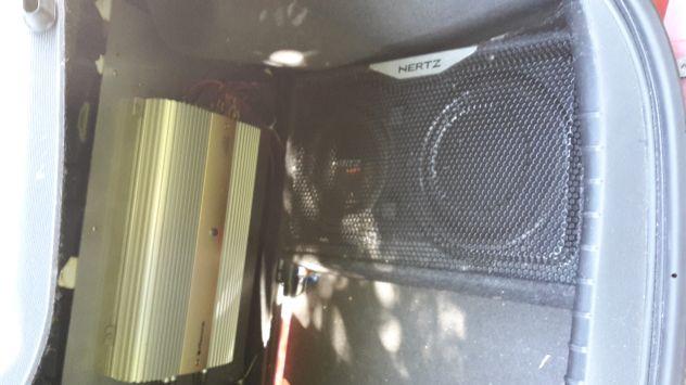 Impianto subwoofer amplificatore autoradio