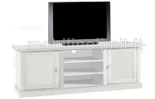 Porta Tv 2 Ante - Bianco Opaco - Nuovo