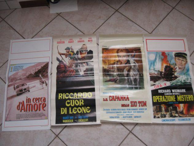 LOCANDINE  70X30 ORIGINALI VECCHI FILM A COLORI VARI ANNI