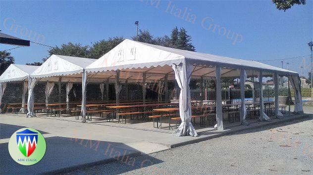Tendoni per eventi , Bar, Ristoranti, Catering 5 x 8 x 2,6 mt. pvc 550 Ignifugo - Foto 8