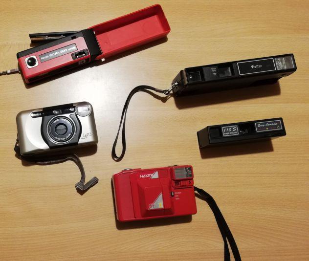 5 Macchine fotografiche Vintage anni 70