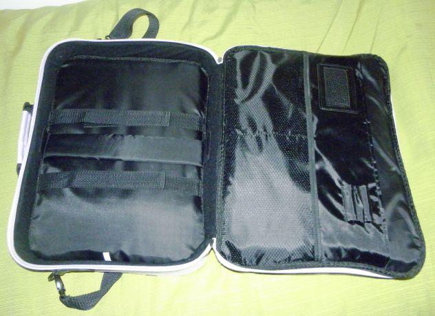 Tracolla per portatile unisex Oliepops lilla e nera - Foto 3