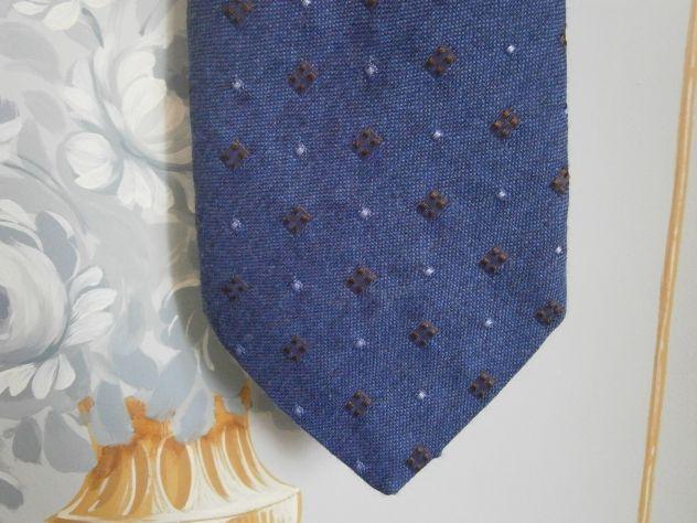 Cravatta di lana/seta Virgilins azzurra  (Italia) anni '90