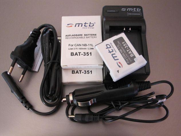 MTB digi-charger  DCL-638 canon NB-11L +2 bat.-Li-ion351 - Foto 2