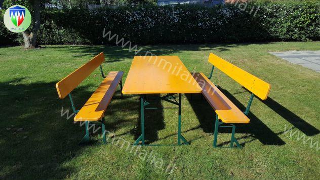 Set Panche e Tavoli per Sagre , Set Birreria 50/67/80 verniciatura Ignifuga