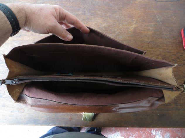 borsa portadocumenti in pelle - Foto 2