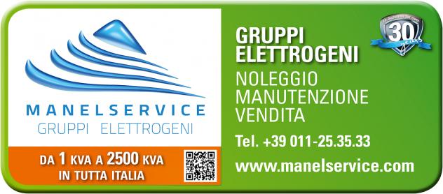 Noleggio gruppi elettrogeni silenziati fino a 12kVA di potenza Milano