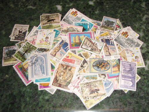 Lotto n. 100 francobolli usati di Italia Repubblica.