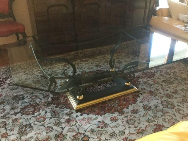 Offro Tavolo centro sala in ferro battuto/ vetro - Foto 6