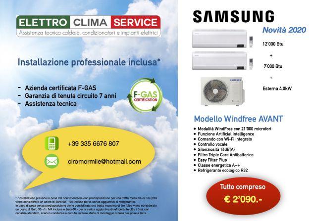 Offerta installazione nuovo climatizzatore Samsung