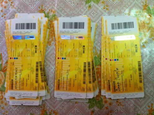 Biglietti Concerti Rock Passati Unused e Non, Da Collezione!