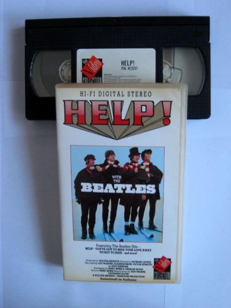 Originale videocassetta VHS WHIT THE BEATLES HELP! - Foto 2