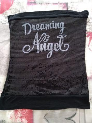 Maglietta Top a fascia nero