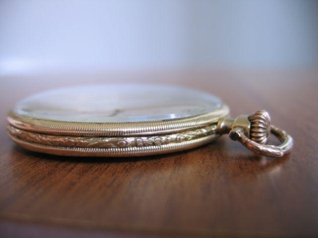 Orologio da Tasca Taschino Cipolla ZENITH Oro 18 K - Primi '900 - Foto 2