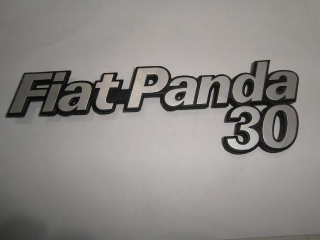 Scritta logo targhetta posteriore Fiat panda 30 NUOVA