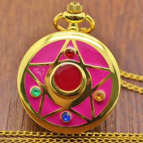 Orologio da tasca sailor moon proplica cosplay locket spilla