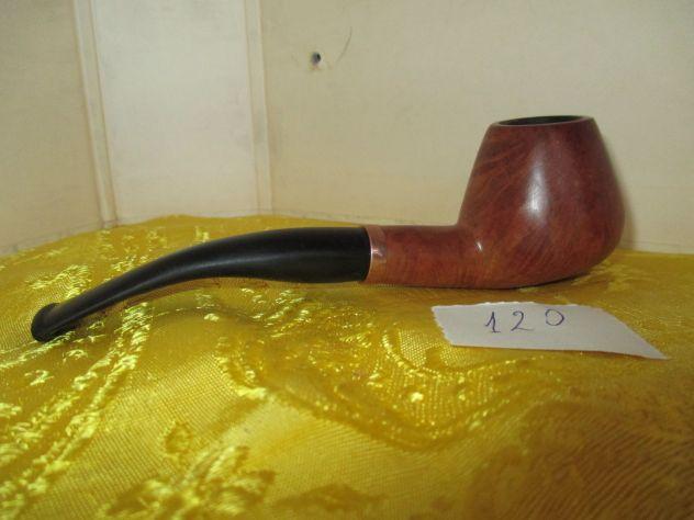 Pipa in radica  rodata con tabacchi non aromatici,  lucidata con