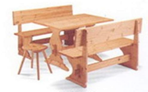 Arredamenti Pub: Panche Tavoli in legno cm 150 Color Cera Nuovo