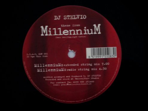 33 giri originale del 1997- DJ Stelvio theme of MILLENNIUM - Foto 5