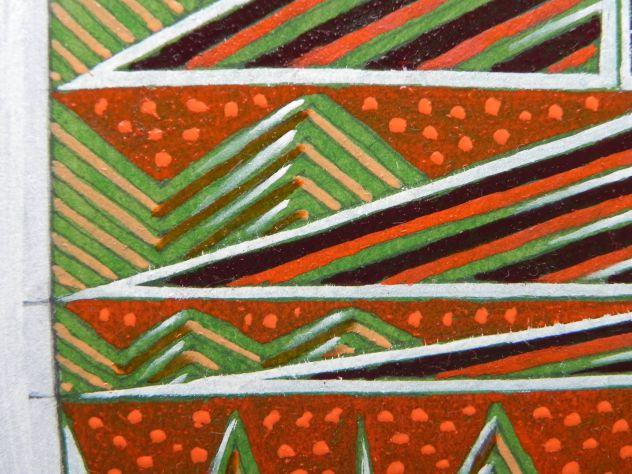 Dipinto ad olio su carta, astratto - Foto 10