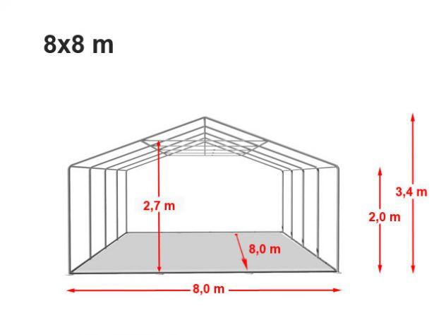 Tendostrutture Coperture Tensostrutture 8 x 8 Professionali Linea Mara - Foto 5