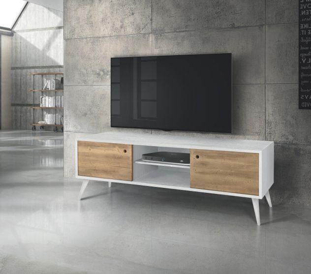 Porta tv abete spazzolato bicolore Cod 252M