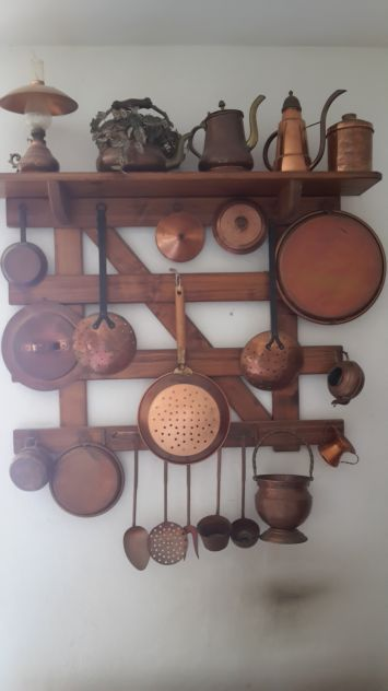 Elementi in rame da collezione