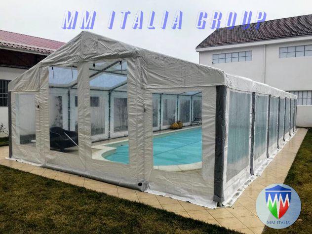 tendoni 6 x 12  tetto  e pareti trasparenti  pvc cristal , con velcro, modulari - Foto 3
