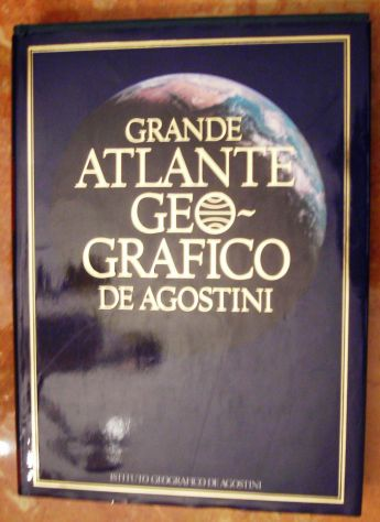 GRANDE ATLANTE GEOGRAFICO DE AGOSTINI 1982