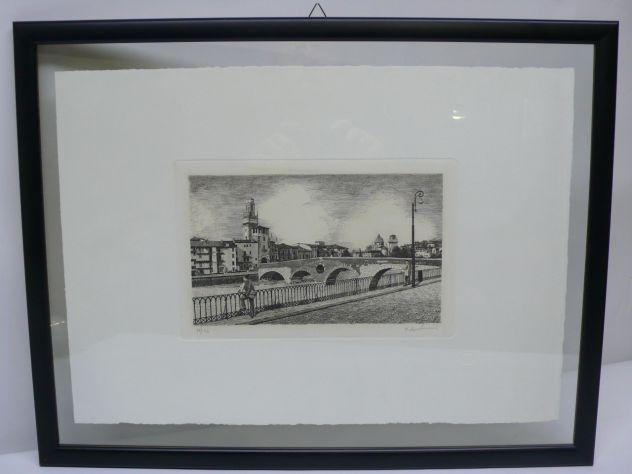 Acqueforti Verona Ponte Pietra Stampe d'Arte L'Ippogrifo