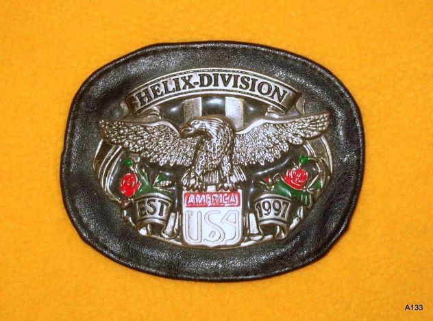 FIBBIA DA CINTURONE O GIUBBOTTO HELIX DIVISION 1997 USA AMERICA IN PEL