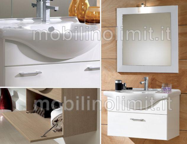 Mobile bagno sospeso cm tft swing bianco cromato mobili bagno
