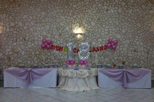 Sala ricevimenti per feste di compleanno a catania annunci catania - Addobbi tavoli per 18 anni ...