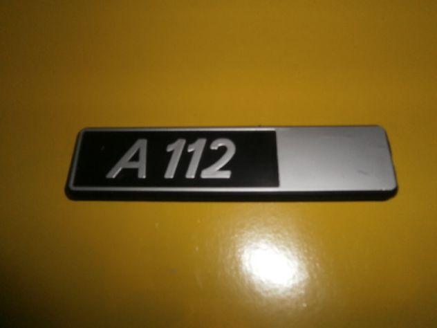 Autobianchi A112 scritta logo targhetta baule posteriore NUOVA