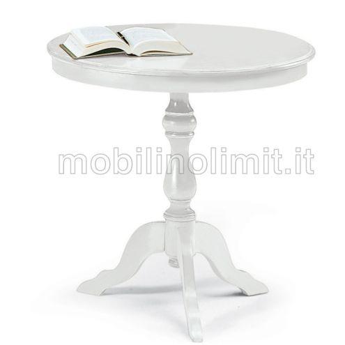 Tavolino Rotondo Bianco 60 - Nuovo