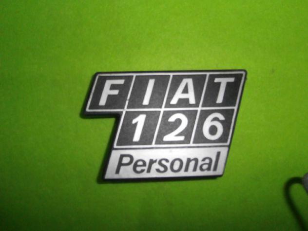 Scritta cofano motore Fiat 126 personal logo targhetta  NUOVA